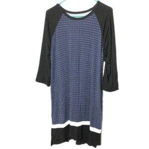 Dkny T-shirt dress size large blue black